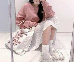 pink, kfashion, and pastel image