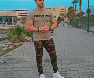 exercise, gay man, and cargo pants image
