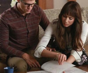 pretty little liars, toby, and troian bellisario image