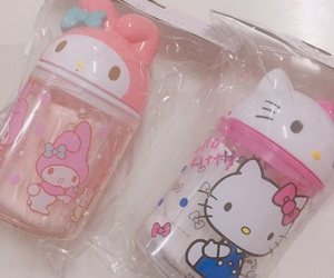 kitty, mymelody, and sanrio image