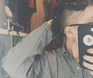 dreadlocks, undercut, and stretched ears image