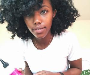 Afro, brown skin, and natural hair image