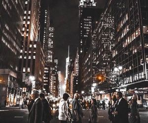 city, travel, and light image