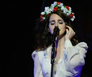 lana del rey, Queen, and flowers image