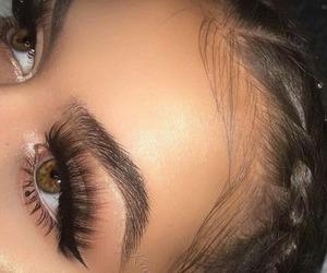 eye, eyebrown, and beautiful image