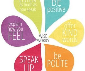 positive, live and learn, and speak image