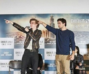 thomas sangster, maze runner, and dylan o'brien image