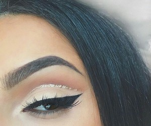 beauty, cosmetics, and eyebrows image