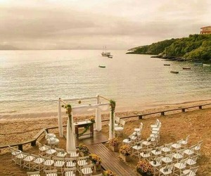 beach, wedding, and marriage image