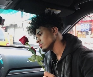 boy and rose image