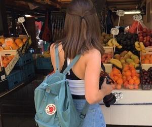 girl, fruit, and kanken image