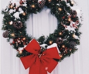 christmas, green, and wreath image