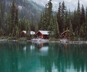 beauty, lake, and landscape image