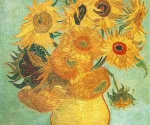 art, van gogh, and sunflower image