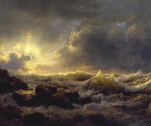 art, painting, and andreas achenbach image