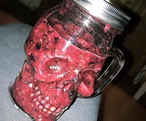 skull, smoothie, and snaps image