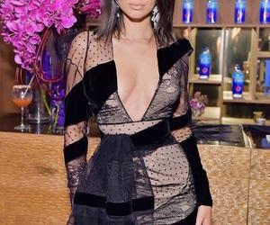 black, dress, and kardashian image