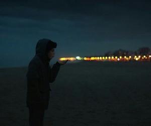 light, night, and boy image