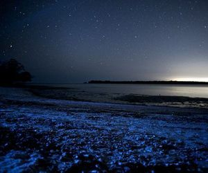 stars, beach, and blue image
