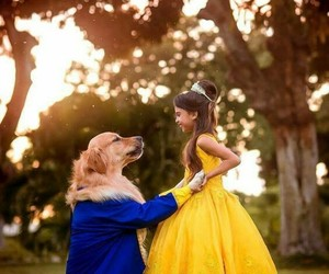 beauty and the beast, disney, and dog image