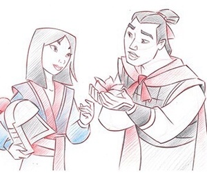couple, drawing, and illustration image