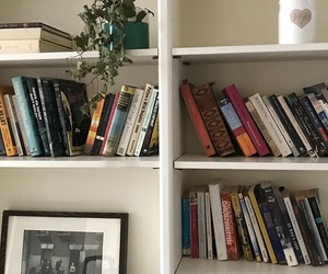 apartment, home, and books image
