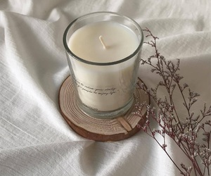candle, aesthetic, and white image
