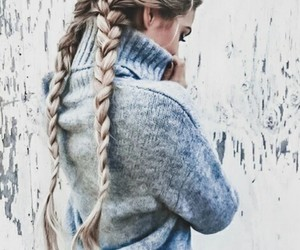 hair, fashion, and winter image
