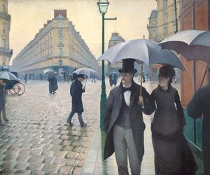 gustave caillebotte and paris street; rainy day image