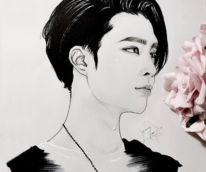 nct 127, drawing, and johnny image