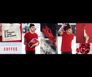 headers, zaynmalik, and red image