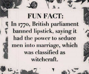 lipstick, witchcraft, and british image