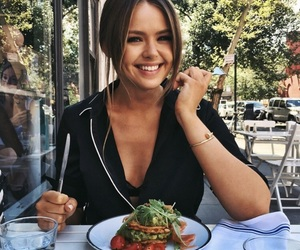 girl, food, and smile image