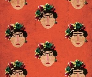 frida kahlo, background, and pattern image