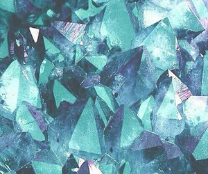 blue, wallpaper, and crystal image