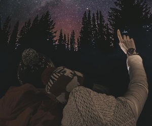 couple, empowerment, and forest image