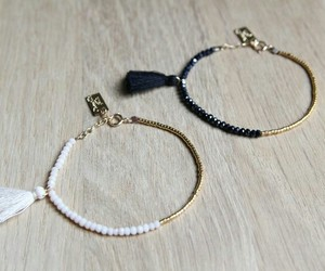 black, bracelets, and white image
