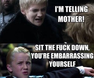 harry potter, game of thrones, and draco malfoy image