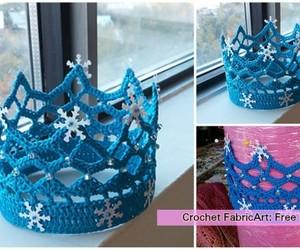 crochet and princess crown image