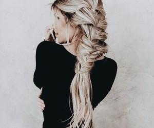 braid, blonde, and fashion image
