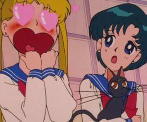 luna, love, and sailor moon image