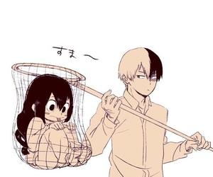 boku no hero academia, todoroki, and tsuyu image