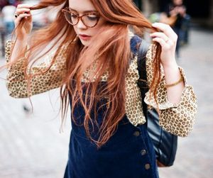 fashion, ginger, and glasses image