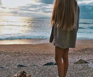 girl, miss, and sea image