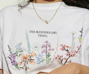 fashion, flowers, and chanel image