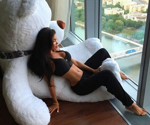girl, body, and bear image