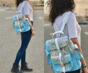 backpack, grafea, and moda image