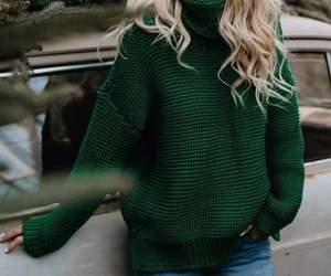 green, fashion, and winter image