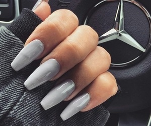 gel, grey, and gelnails image