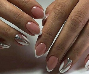 amazing, silver, and wedding nail image